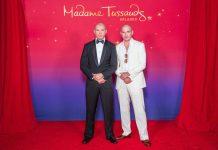 Pitbull și replica sa de la Madame Tussauds Orlando