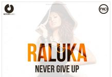 "Raluka, ""Never Give Up"" - artwork"