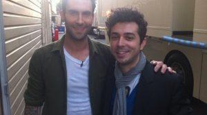 Adam Levine și Marius Moga