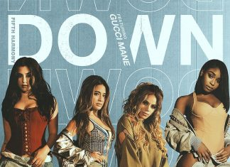 "Fifth Harmony feat. Gucci Mane, ""Down"" (artwork)"